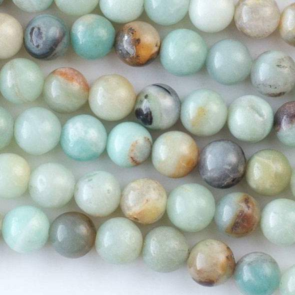 Multicolor Amazonite 8mm Round Beads - approx. 8 inch strand, Set A