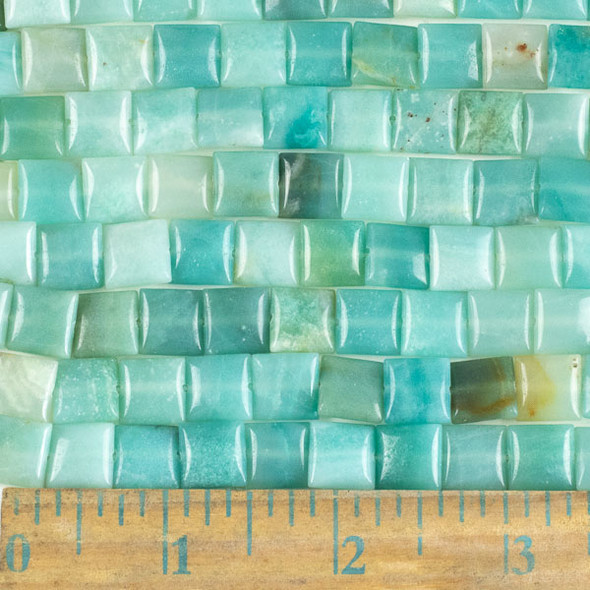 Amazonite 10mm Square Beads - approx. 8 inch strand, Set A