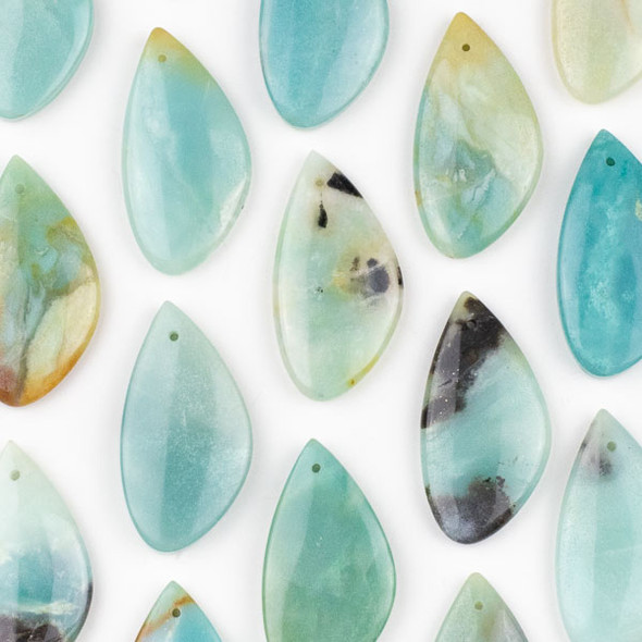 Amazonite 25x50mm Free Form Pendant - 1 per bag
