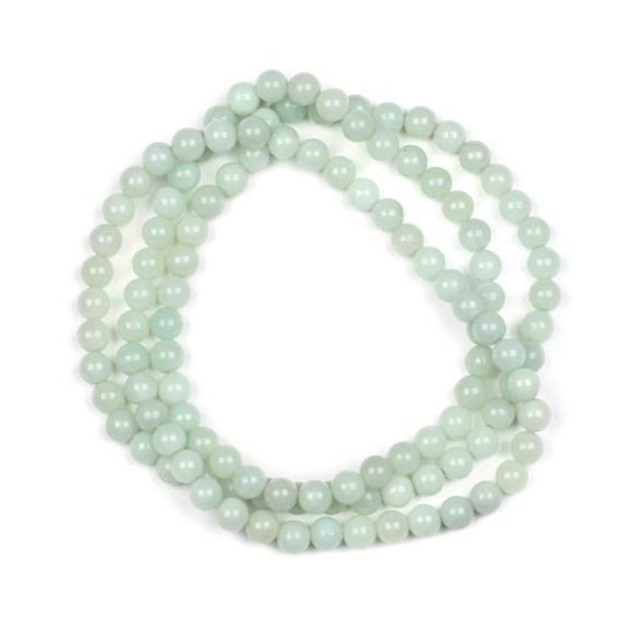 Blue Amazonite 6mm Mala Round Beads - 29 inch strand