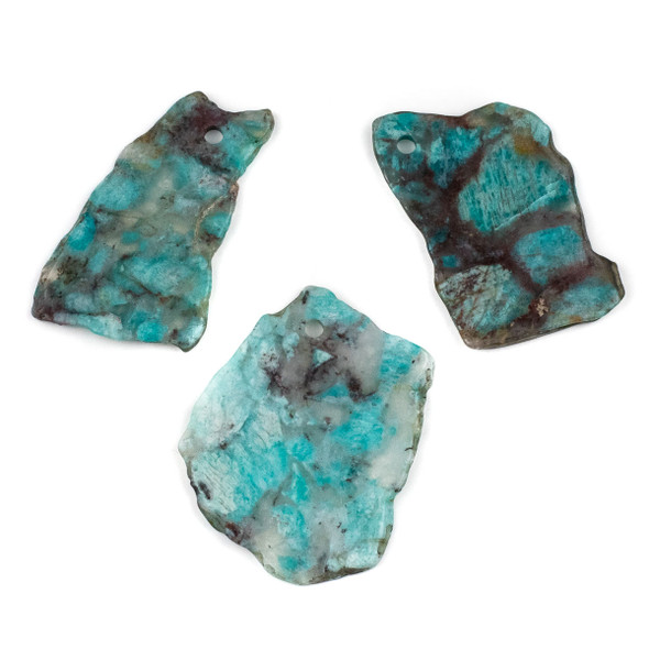 Amazonite 40x56-62x96mm Slab Pendant - 1 per bag
