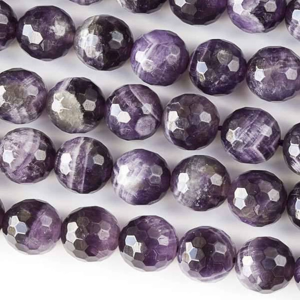 Amethyst Faceted 10mm Round - 8 inch strand