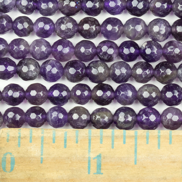 Amethyst Faceted 6mm Round Beads - approx. 8 inch strand, Set B