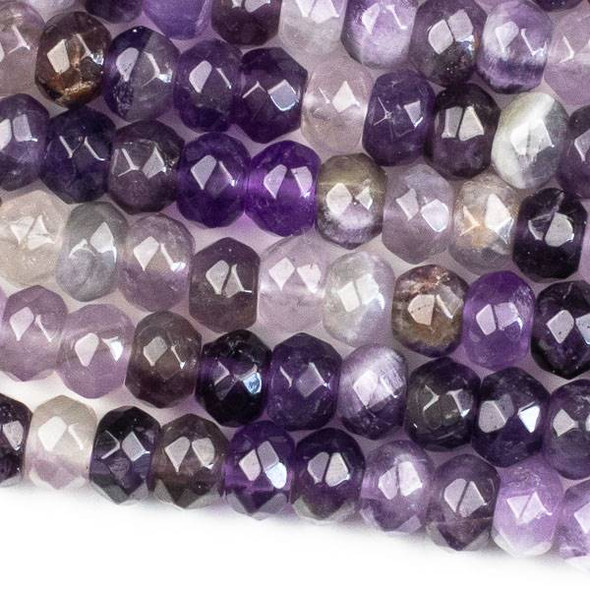 Amethyst Faceted 5x8mm Rondelle Beads - approx. 8 inch strand, Set B