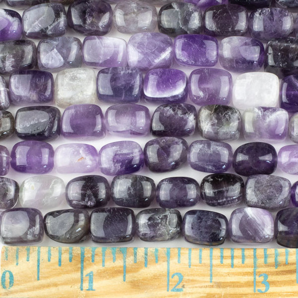 Amethyst 10x14mm Nugget Beads - approx. 8 inch strand, Set A