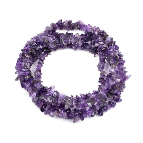 "Amethyst 5-8mm Chip Beads - 34"" circular strand"