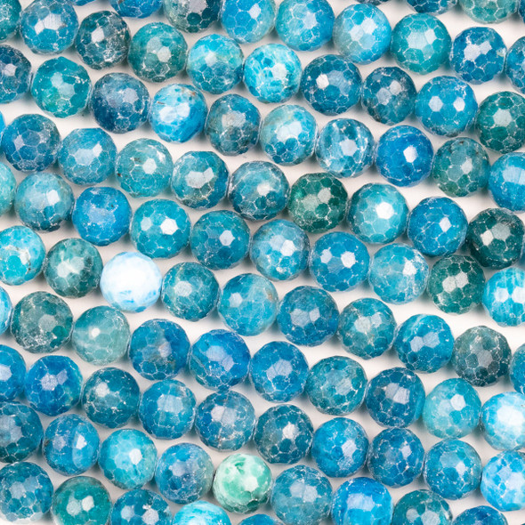Apatite 8mm Faceted Round Beads - 15 inch strand