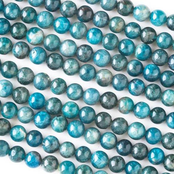 "Apatite Grade ""A"" 6mm Round Beads - 16 inch strand"
