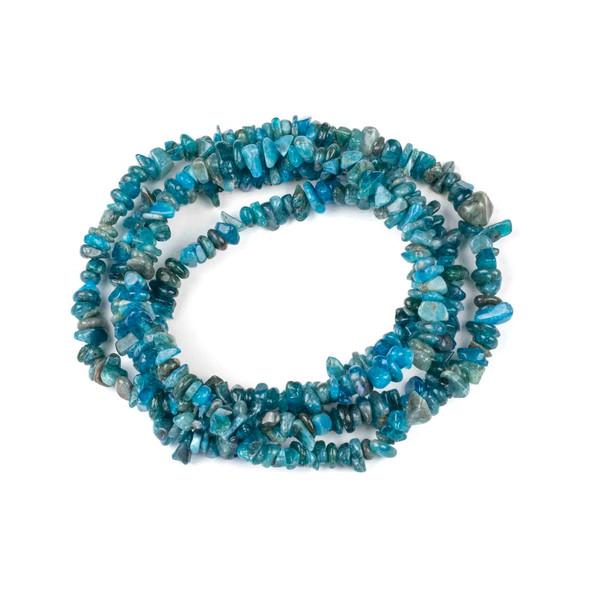 "Blue Apatite 5-8mm Chip Beads - 34"" circular strand"