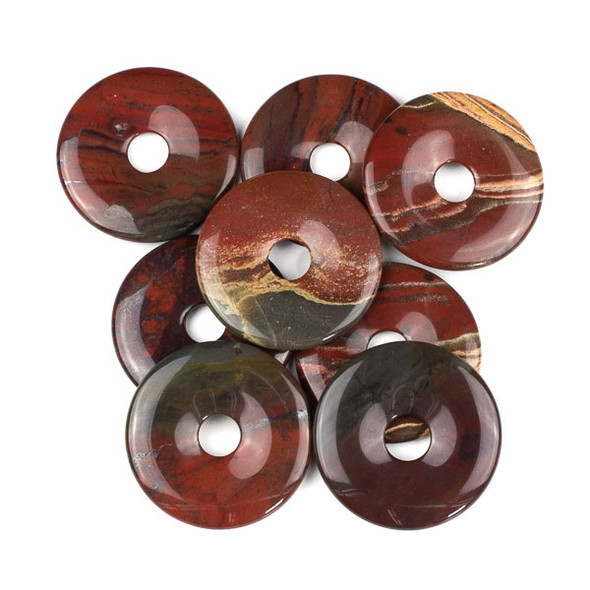Apple Jasper 45mm Donut Pendant - 1 per bag