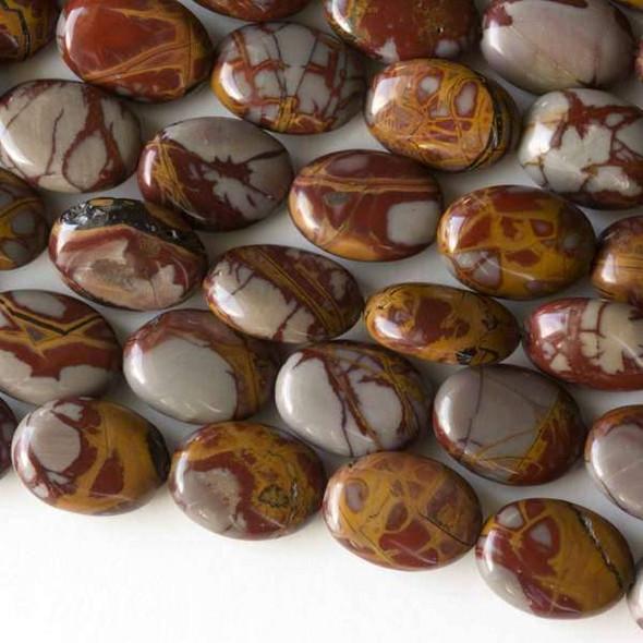 Australian Red Picture Jasper (Noreena Jasper) 10x14mm Oval