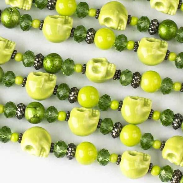 Green Skull Artisan Strand