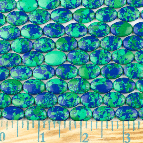 Synthetic Azurite 10x14mm Oval Beads - approx. 8 inch strand, Set A