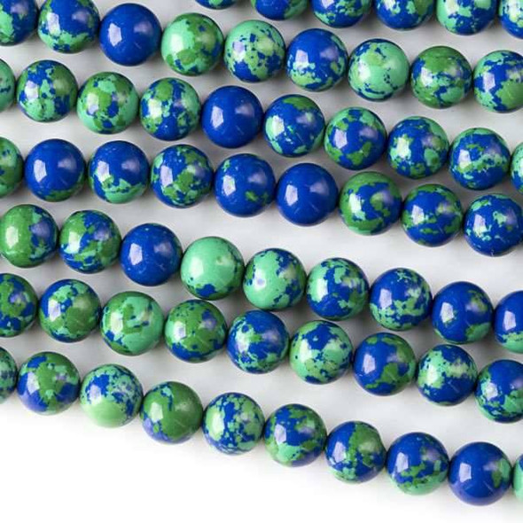Synthetic Azurite 6mm Round Beads - approx. 8 inch strand, Set A