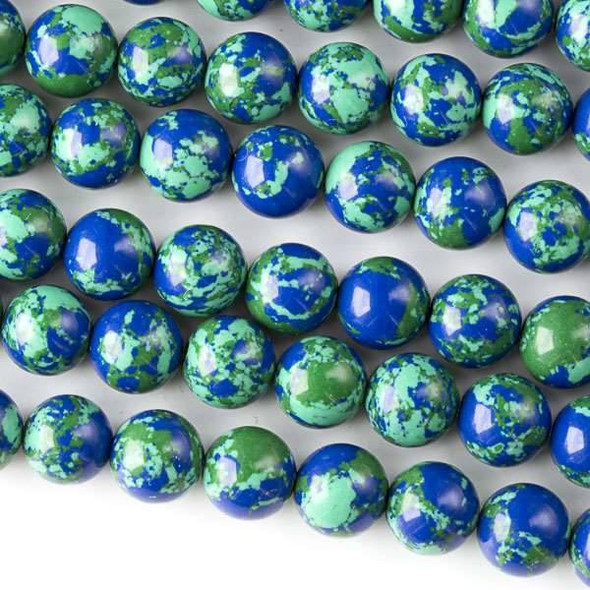 Synthetic Azurite 8mm Round Beads - approx. 8 inch strand, Set A