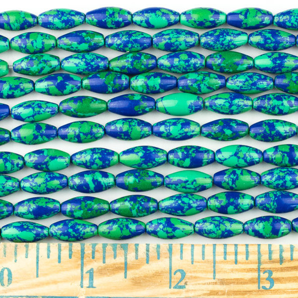 Synthetic Azurite 7x14mm Rice Beads - approx. 8 inch strand, Set A