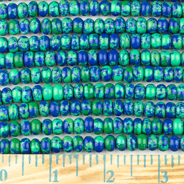 Synthetic Azurite 5x8mm Rondelle Beads - approx. 8 inch strand, Set A