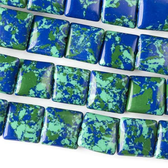 Synthetic Azurite 10mm Square Beads - approx. 8 inch strand, Set A