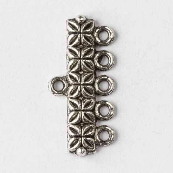 Silver Pewter 12x25mm 5:1 Connectors - 12 per bag - basea0753s