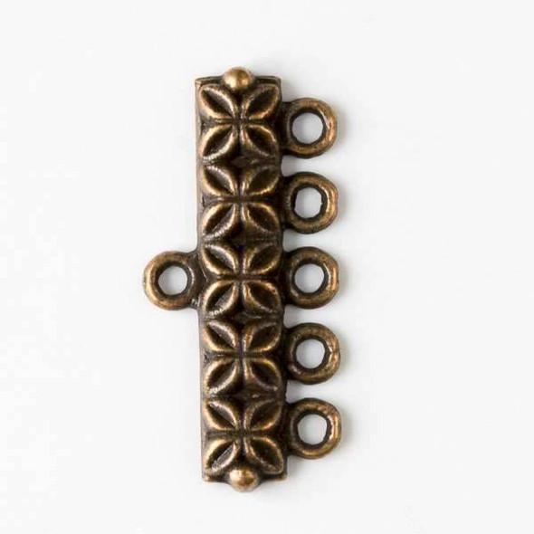 Vintage Copper Colored Pewter 12x25mm 5:1 Connectors - 12 per bag - basea0753vc