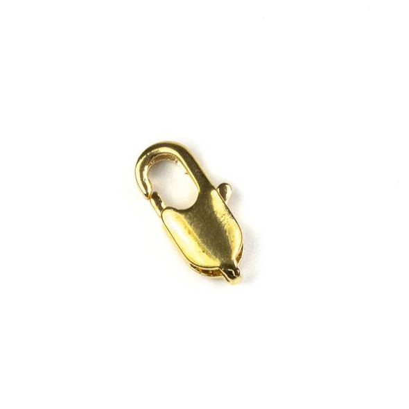 Gold Colored Pewter 6x12mm Lobster Clasps - 6 per bag - basea802g