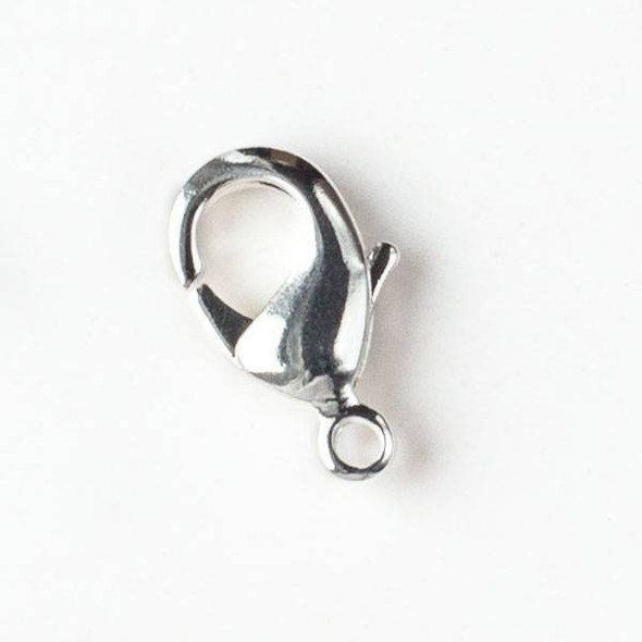 Silver Pewter 10x18mm Lobster Clasps - 4 per bag - basea904s