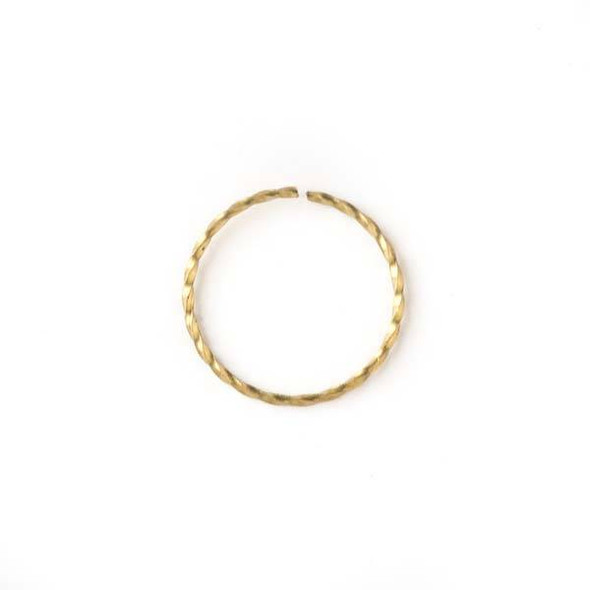 Brass 19mm Open Twisted Hoop - 100 per bag - baseaDS032vb