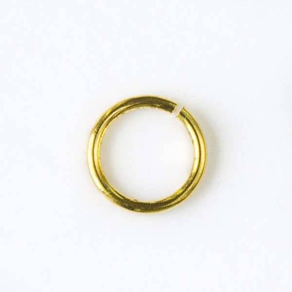 Gold Colored Pewter 6mm Open Jump Rings - 50 per bag - baseajmprg6g