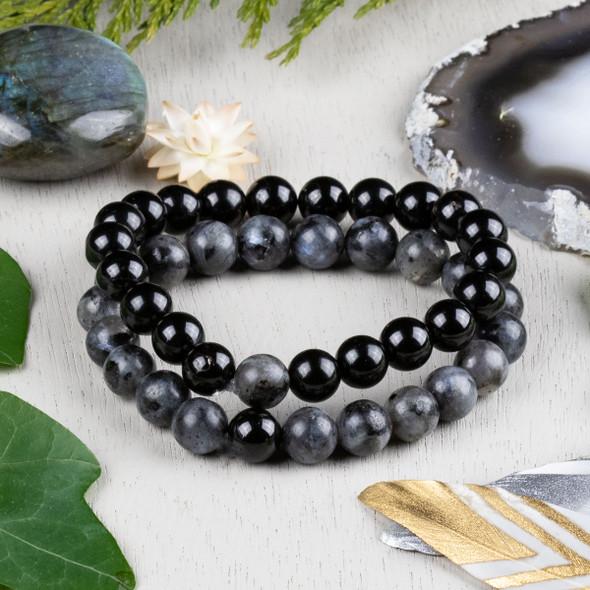 Black Labradorite & Onyx Distance Bracelets Kit - bkit-014