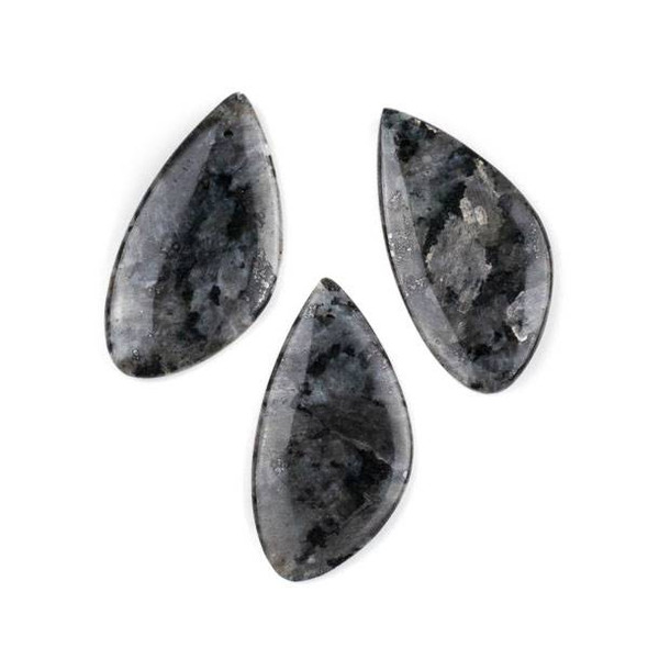 Black Labradorite/Larvikite 25x50mm Free Form Pendant - 1 per bag