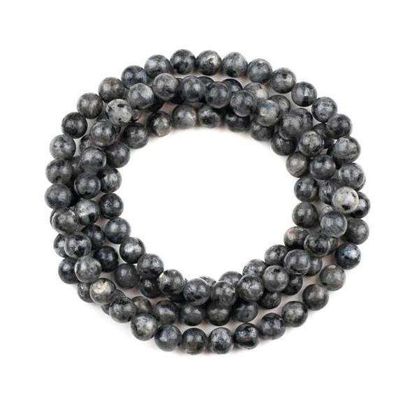 Black Labradorite 8mm Mala Round Beads - 36 inch strand