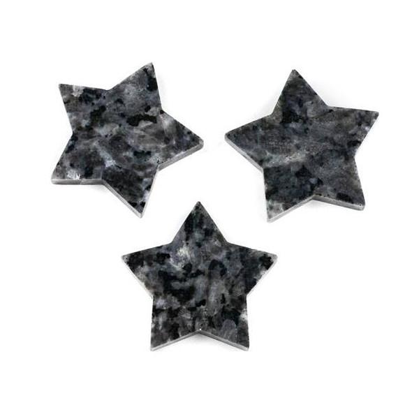 Black Labradorite/Larvikite 44mm Top Drilled Star Pendant - 1 per bag