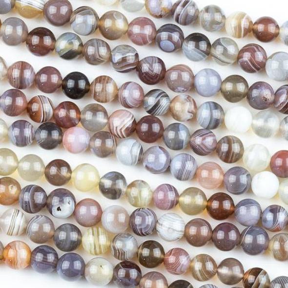 Botswana Agate 6mm Round Beads - 15 inch strand