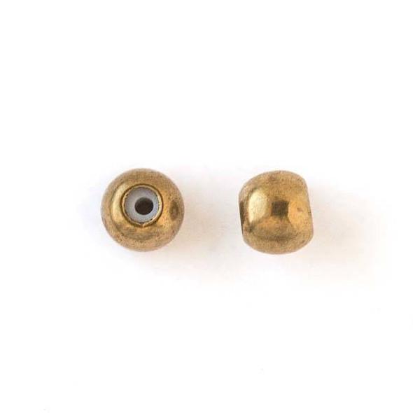 Brass 5mm Rondelle Slide Clasp - 12 per bag