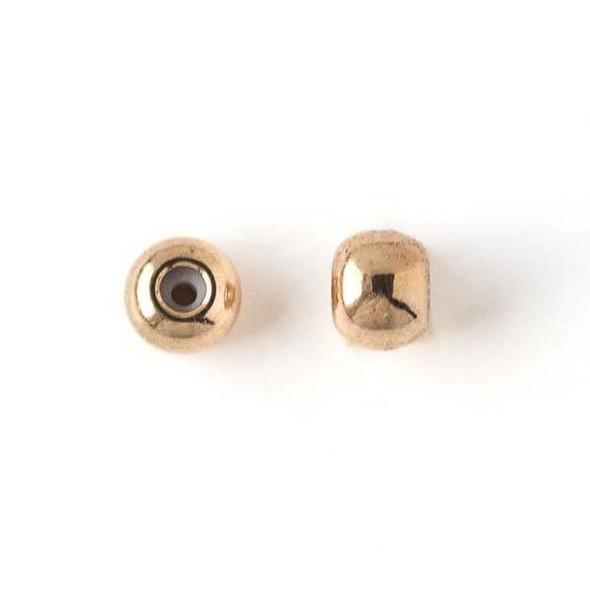 Gold Plated Brass 5mm Rondelle Slide Clasp - 12 per bag