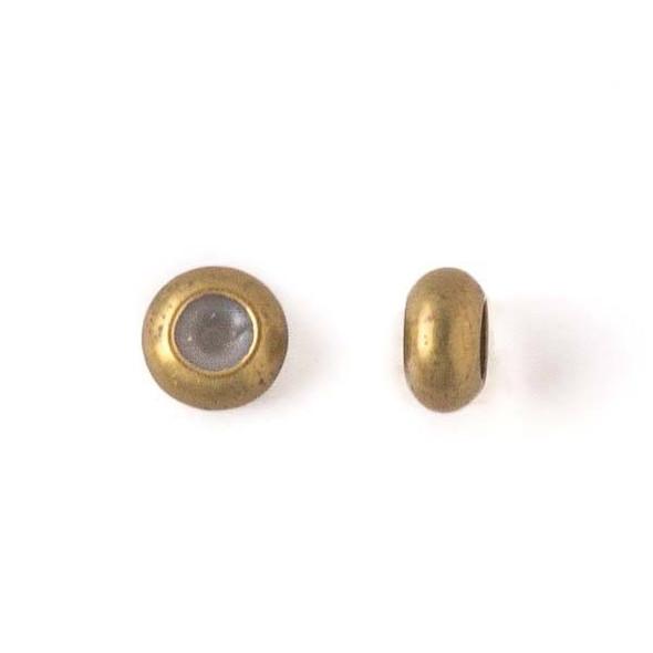 Brass 6mm Rondelle Slide Clasp - 12 per bag
