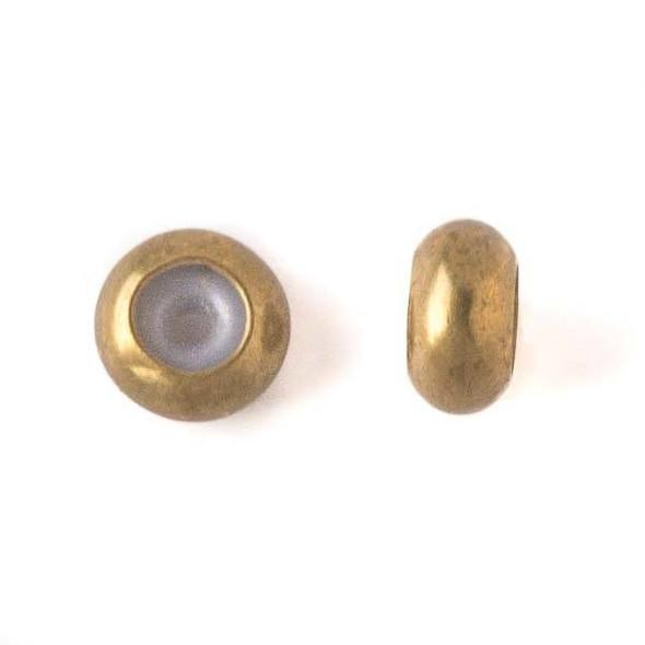 Brass 7mm Rondelle Slide Clasp - 12 per bag