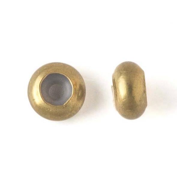 Brass 8mm Rondelle Slide Clasp - 12 per bag