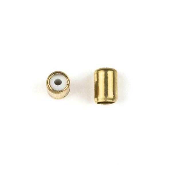 Brass 4x6mm Tube Slide Clasp - 12 per bag