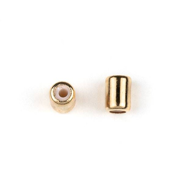 Gold Plated Brass 4x6mm Tube Slide Clasp - 12 per bag