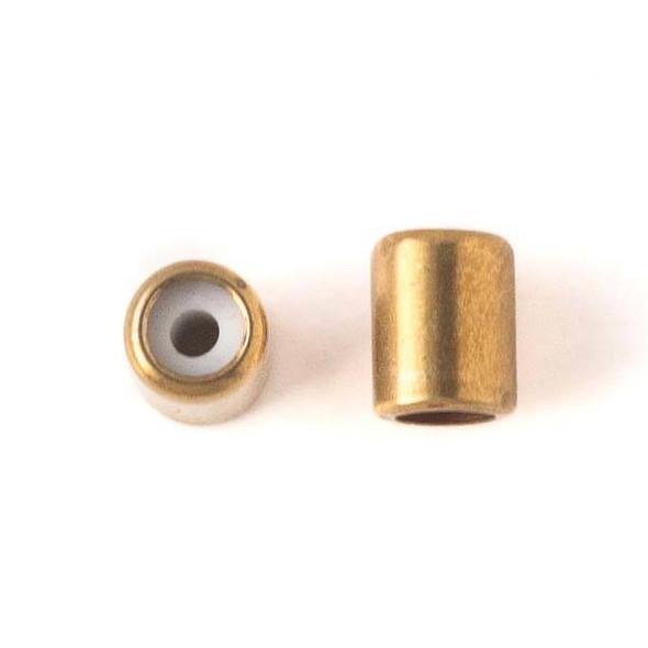 Brass 5.5x7mm Tube Slide Clasp - 12 per bag