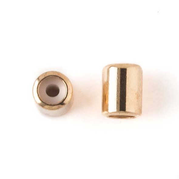 Gold Plated Brass 5.5x7mm Tube Slide Clasp - 12 per bag