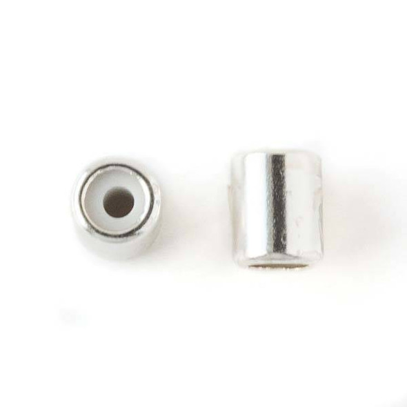 Silver Plated Brass 5.5x7mm Tube Slide Clasp - 12 per bag
