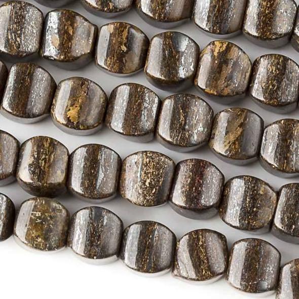 Bronzite 8mm Cushion Beads - approx. 8 inch strand, Set A