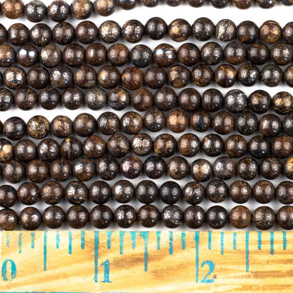 Bronzite 6mm Round Beads - approx. 8 inch strand, Set A