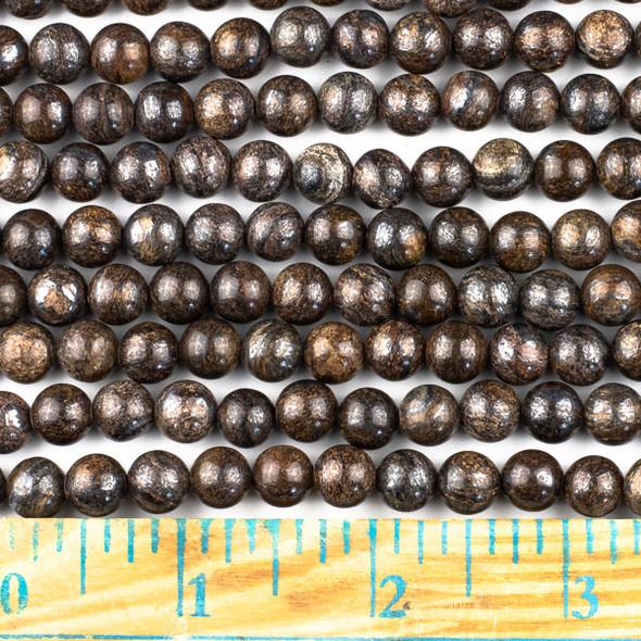 Bronzite 8mm Round Beads - approx. 8 inch strand, Set A