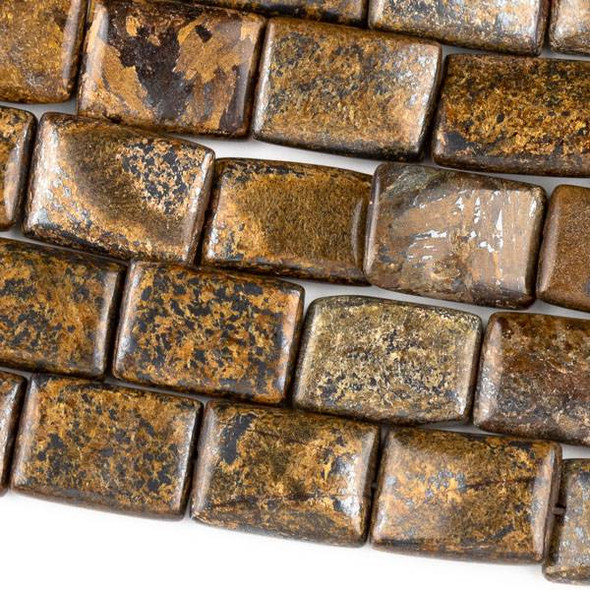 Bronzite 10x14mm Rectangle Beads - approx. 8 inch strand, Set A