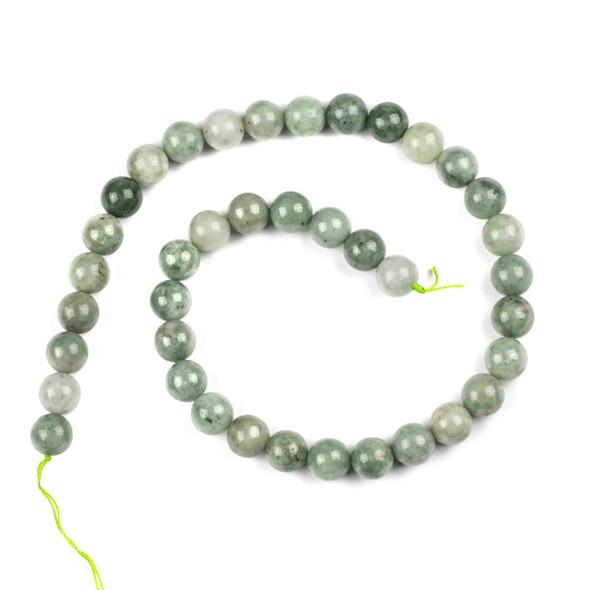 Burma Jade 10mm Round Beads - 16 inch strand