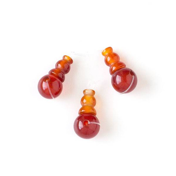 Carnelian 10x20mm Guru Bead - 1 per bag