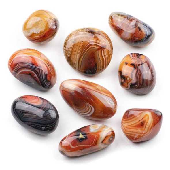 Natural Carnelian Small Pebble Palm Stone - 1 per bag